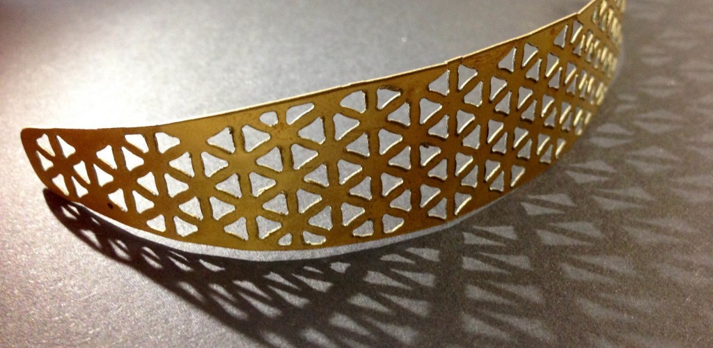 Laser cutting brass plate