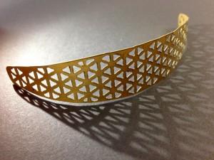 Laser cutting brass plate