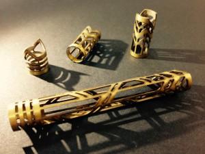 Brass round tube laser cutting