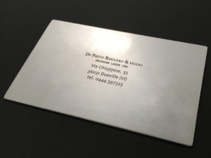 Clichè per tampografia inciso in alluminio
