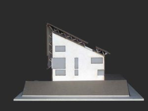Taglio plastico architettonico con inserti in plexiglass opaco