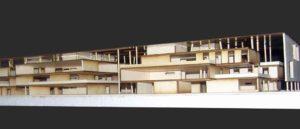 Taglio plastico per architettura in cartone pressato e plexiglass trasparente